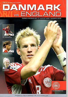 Denmark v England 17th August 2005 World Cup Qualifier