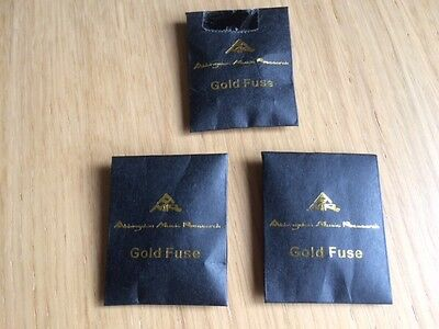 AMR Gold Fuses for Hifi plugs set of 3