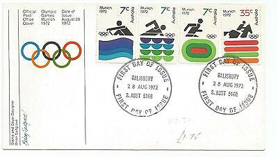Australia Fdc-1972 Olympic Games