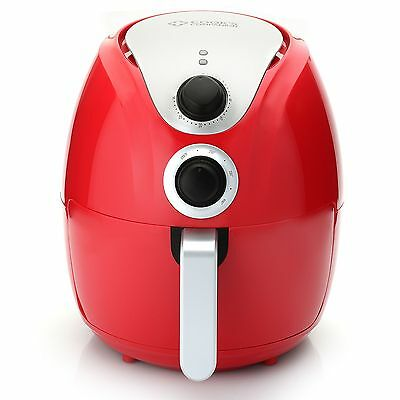 Cook's Companion 1500W 4.2 qt Air Fryer w/ Single Basket System Red NEW