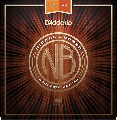 D'Addario NB Nickel Bronze Acoustic Guitar Strings - Various Gauges Available