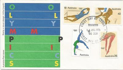 Australia Fdc-1976 Olympic Games