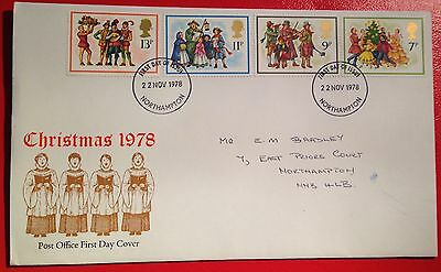 1978  CHRISTMAS  First Day Cover