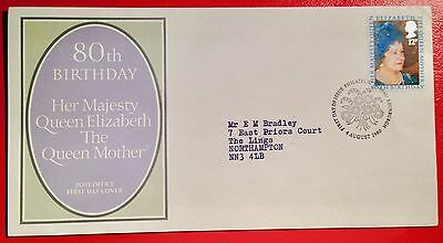 1980   80th. Birthday Queen Elizabeth the Queen Mother  First Day Cover