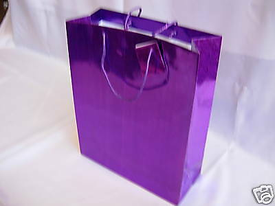 12 Purple Paper Carrier Gift Bags  Wedding Christmas  23cmx18cmx7cm