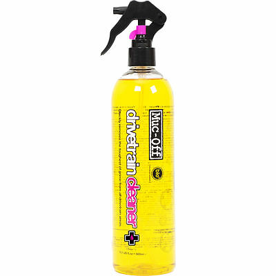 Muc-Off Drivetrain Cleaner 500ml Spray On Formula Grime Remover Biodegradable