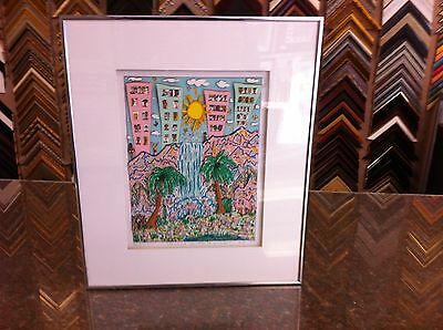 """James Rizzi 3-D """" Room with a View """" Signed & Numbered Framed"""