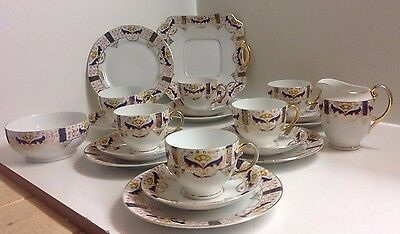 Lovely Porcelain/China 21 Piece Tea Set Possibly Continental