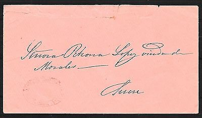 Bolivia covers 1875? Provisional Handstamped GUBERNATIVO to Sucre