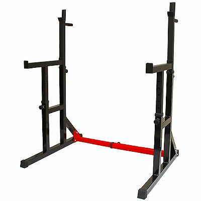 Nero Adjustable Squat Rack & Dip Stand Barbell Weight Gym Bench Power Lifting