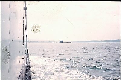 35Mm Colour Slide Royal Navy Unknown Submarine At Portsmouth Harbour