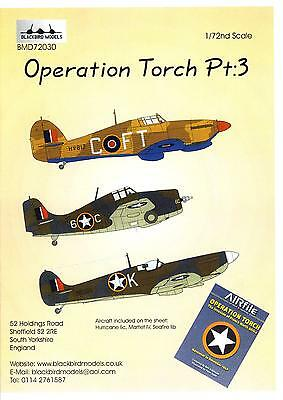 Blackbird Decals 1/72 OPERATION TORCH ALLIED AIRCRAFT Part 3