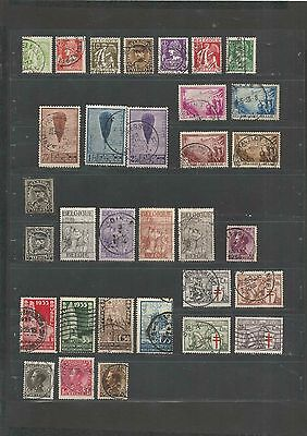 JAN 082 Belgique - Belgie 2 PAGES of USED EARLY stamps incl. Tuberculosis TB $$
