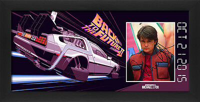 Michael J Fox Back to the Future 2 framed presentation