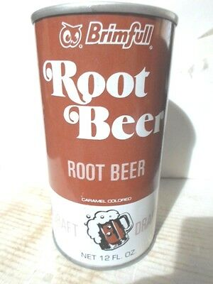 Brimfull Root Beer  Straight Sided Steel Soda Can /  Pop Can