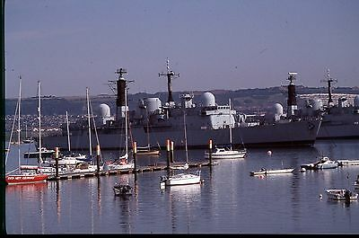 35Mm Colour Slide Royal Navy Warship Hms Cardiff D108 Portsmouth Harbour  2005