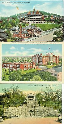 Hot Springs AR Collector's Set of Three