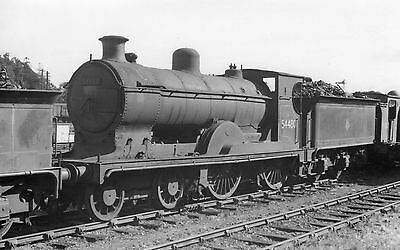 Photo Ex LMS Class 3P No 54480 at Inverness shed yard 13/8/69 PHG