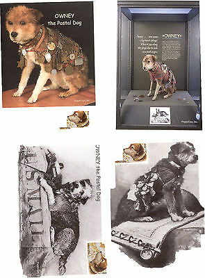 OWNEY the Postal Dog: Complete Set/4 Different 4x6 PLAIN / BLANK Cards