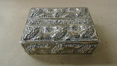 Vintage .925 Sterling Silver Box Made in Portugal Jewlery Box Pill Box