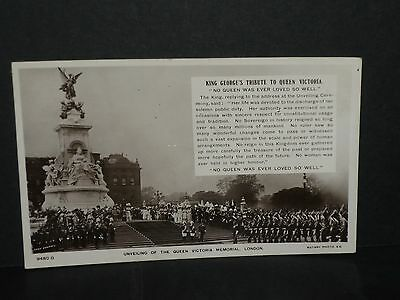 Royalty - Unveiling of the Queen Victoria memorial 1911