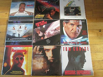 1990's LASERDISC COLLECTION OF 9 FILMS MOVIES ALL EXCELLENT CONDITION