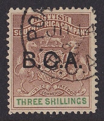 BRITISH CENTRAL AFRICA 1891 BCA  Arms 3/- SCARCE!