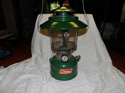 Vintage Coleman 228F Dual Mantle Big Hat Lantern 10/71