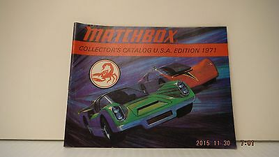 Vintage 1971 Matchbox Lesney Collector's Catalogue Nm