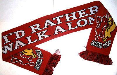 Manchester United I'd Rather Walk Alone Scarf