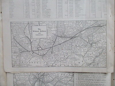 Vintage 1920s Railroad Gazetteer - Train Maps of US and Canada