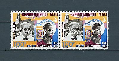 MALI - 1966 YT 32 paire - A SCHWEITZER - POSTE AERIENNE - TIMBRES NEUFS** LUXE