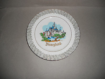 Walt Disney Productions Disneyland Castle Collectible Plate Made in Japan Excell