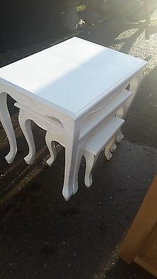 White French Style Nest Of 3 Tables Del Avail