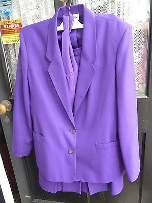Ladies Royal Purple Skirt Suit By Features  - Excellent Condition