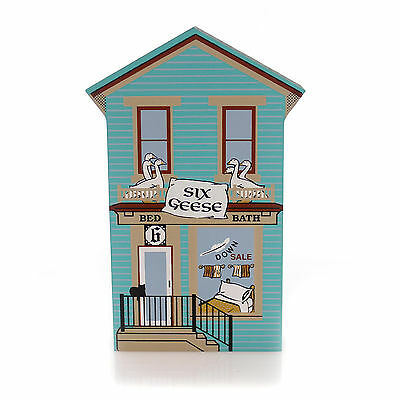 Cats Meow Village SIX GEESE Wood 12 Day Christmas Retired 00-433