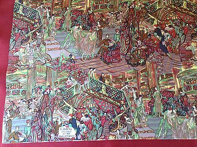 UNWORN VINTAGE LIBERTY HAND ROLLED SILK SCARF. DANCING IN STYLE!  27 x 26 INCHES