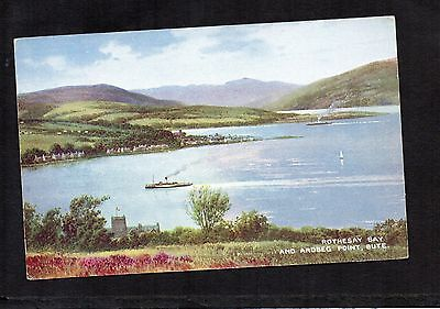 Rothesay Bay And Ardbeg Point, Bute. Valentine's Art Colour Postcard