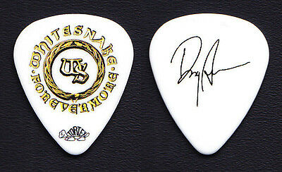 Whitesnake Doug Aldrich Signature White Guitar Pick - 2011 Forevermore Tour