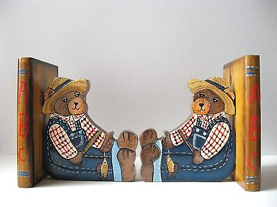Teddy Bear ABC Book Ends - Hand-Painted Children's Nursery Decor