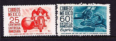 Mexico 19550 Special Delivery Stamps - Two Mint hinged values -  (863)