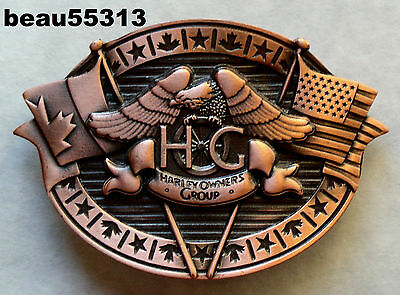 HARLEY DAVIDSON HOG 2006 3rd CAN-AM TOURING RALLY CANADA TO USA BELT BUCKLE