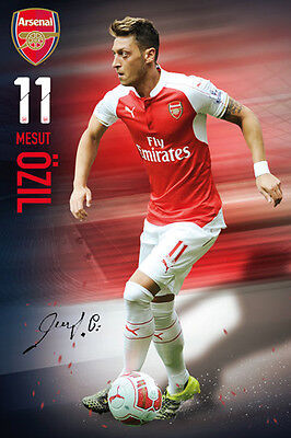 Rare MESUT OZIL Arsenal FC SIGNATURE SERIES Football Soccer Action POSTER