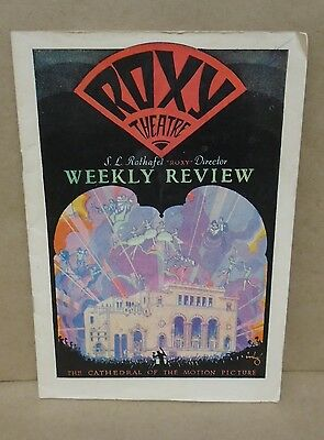 Roxy Theatre Program Weekly Review 1927 7th Heaven New York City