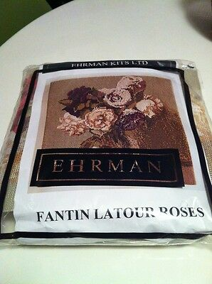 Ehrman Tapestry Kit Fantin Latour Roses By Kaffe Fassette Unused Sealed