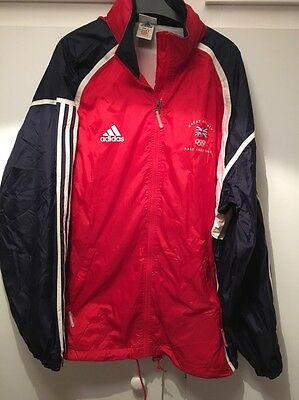 *M* Great Britain 2002 Winter Salt Lake City Olympics Adidas Hooded Jacket