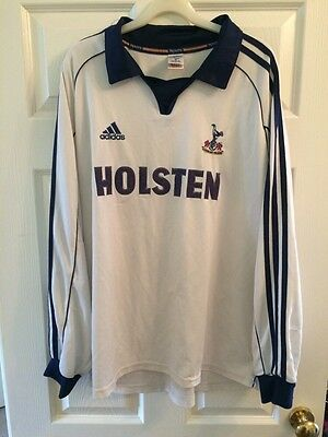 *XXL* 1999 Spurs TOTTENHAM L/S Home HOLSTEN Football Shirt