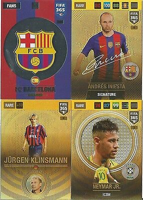 Panini Fifa 365 2017 Adrenalyn Xl Rare 1 To 9 Club/inter Logos Pick The Cards