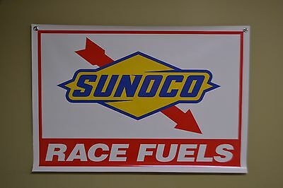 Sunoco Racing Fuel BANNER Gas Station & Oil Sign Advertising Garage Shop Logo