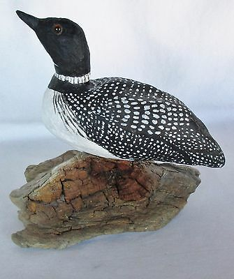 Vintage Loon Drake Duck Carved by Olivia Cornelius from Maquoketa IA